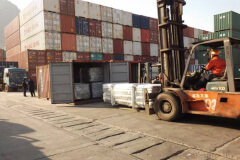 All goods loaded into containers