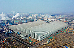 Steel Space Frame Structure Barrel Coal Storage Project