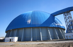 Space Frame Dome Coal Storage Shed Project