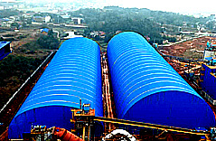 Hunan Taojiang 4000tpd Space Frame Clinker Cement Production Line