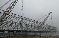 Steel Structure Supporting Heating Networks Pipeline Project