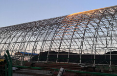 Large Span Space Frame Coal Storage Shed