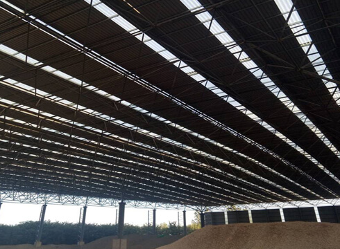 coal storage sheds
