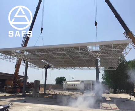 Gas Filling Station Canopy