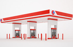Different Types of Gas Station-3D Models