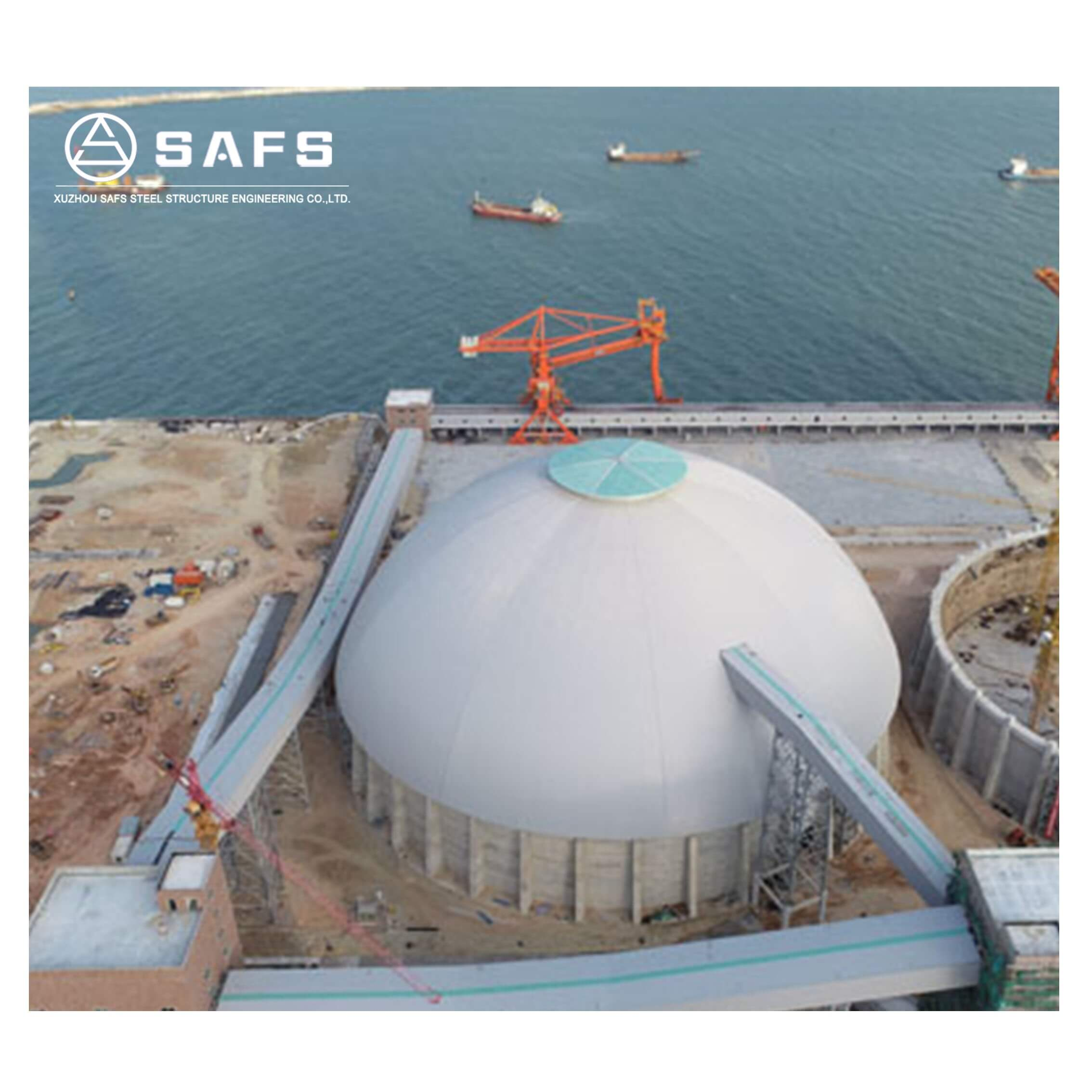 Prefabricated Steel Structure Dome Coal Storage Warehouse Building
