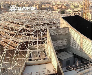 Safety Construction Space Frame Coal Storage Shed Dome Steel Structure