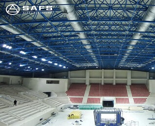 Indoor Stadium Space Frame Roof Canopy Construction for Sports