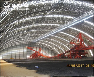 long span Space Frame Steel Structural Coal Storage