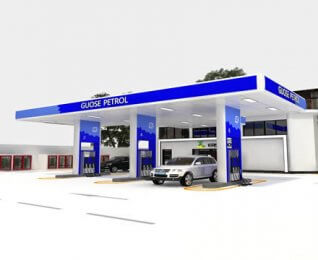 space frame prefabricated roof gas station roof design