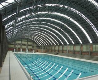 Prefabricated Steel Structure Swimming Pool Roof