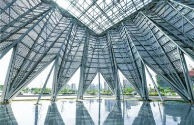 General precautions for processing large overhead space frame project