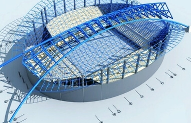 Steel-the main material of steel structure gymnasium