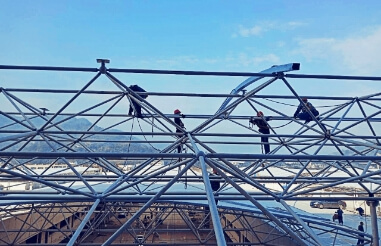 How often should the space frame be inspected